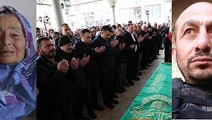 Rize'de Kazada Ölen Şehit Annesinin Cenazesi Toprağa Verildi