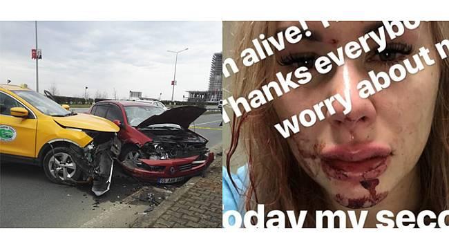 Çaykur Rizesporlu futbolcunun eşi kaza yaptı