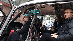 Heliski Tutkunları Kaçkarlar'dan Mutlu Ayrıldı, Vali Çeber Helikopterle İncelemede Bulundu