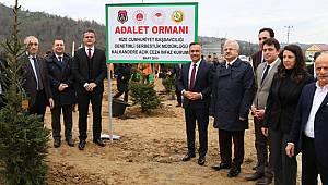 """Rize'de """"Adalet Ormanı"""" Projesi İçin Tören Düzenlendi"""