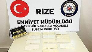 Rize'de Uyuşturucu Taciri Yakayı Ele Verdi