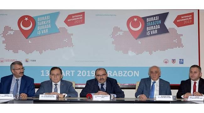 Trabzon'da İş Dünyasına İstihdam Seferberliği Çağrısı