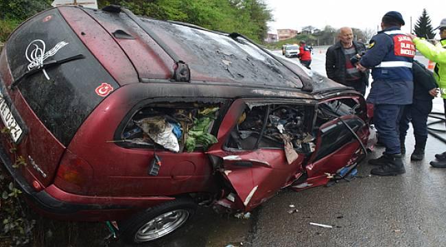 Giresun'daki Kazanın Acısı Rize'ye Düştü 1 Ölü, 1 Ağır Yaralı