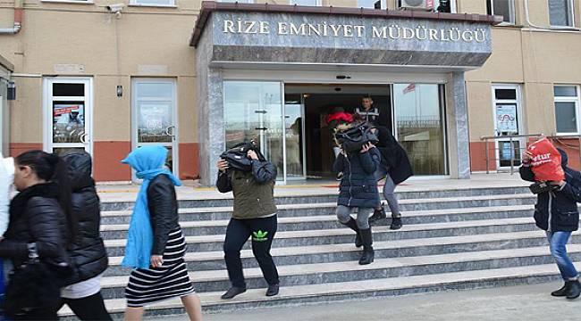 Rize'de Fuhuş Operasyonu 14 Gözaltı
