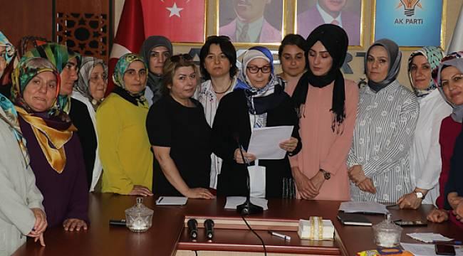 AK Parti Rize Kadın Kolları Srebrenitsa Soykırımını Kınadı