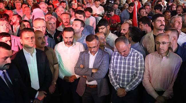 Rize'de 15 Temmuz Demokrasi ve Milli Birlik Günü Yürüyüşü ve Etkinlikleri