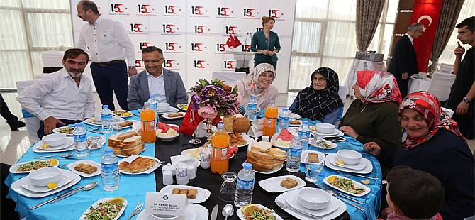 Rize'de Şehit Aileleri ve Gaziler Onuruna Yemek Verildi