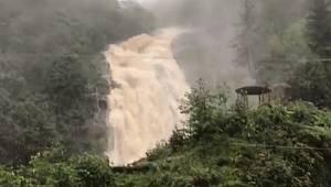 Ağaran Şelalesi Şiddetli Yağış Sonrası Taştı