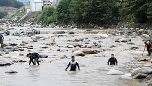 Rize'de HES'in Suyu Tahliye Edildi Selde Kaybolan Çap'ı Aramalara Devam Ediliyor