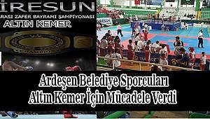 Ardeşen Belediyesi Spor Kulübü Kick Boks Takımı Giresun'dan Madalya İle Döndü