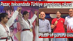 Pazar, tekvandoda Türkiye şampiyonu çıkardı