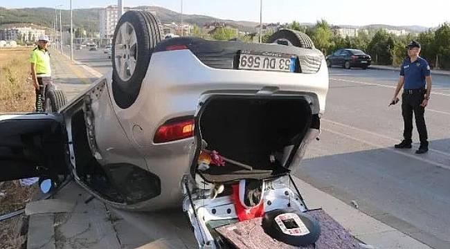 Rize Plakalı Otomobil Sivas'ta Kaza Yaptı 5 Yaralı