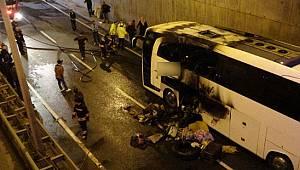 Faciadan Dönüldü: Yolcu Otobüsünde Yangın Çıktı