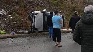 Rize'de Trafik Kazası. Bir Aile Ölümden Döndü