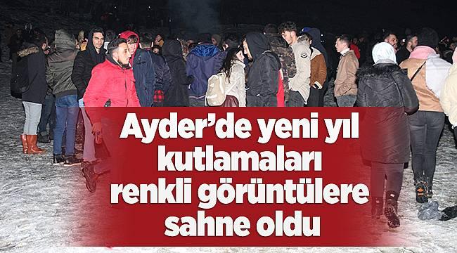 Ayder'de yeni yıl kutlamaları renkli görüntülere sahne oldu