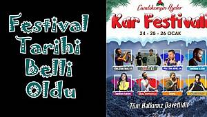 Ayder Kardan Adam Festivali'nin tarihi belli oldu.
