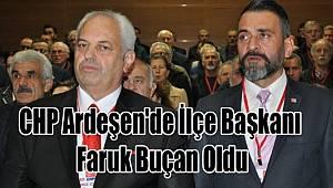 CHP Ardeşen'de İlçe Başkanı Faruk Buçan Oldu