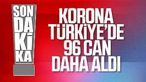 Türkiye'de koronadan 96 kişi daha hayatını kaybetti