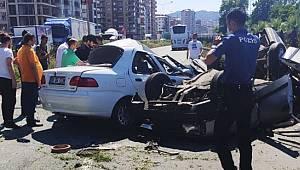 Rize'de Trafik Kazası 2 Ölü, 1 Ağır Yaralı