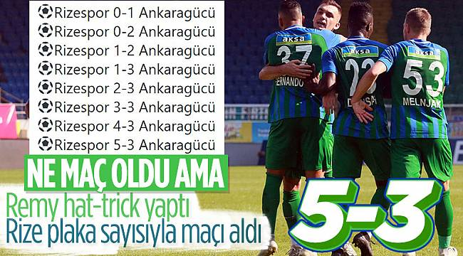 Ç.Rizespor, Ankaragücü'ne 5 attı