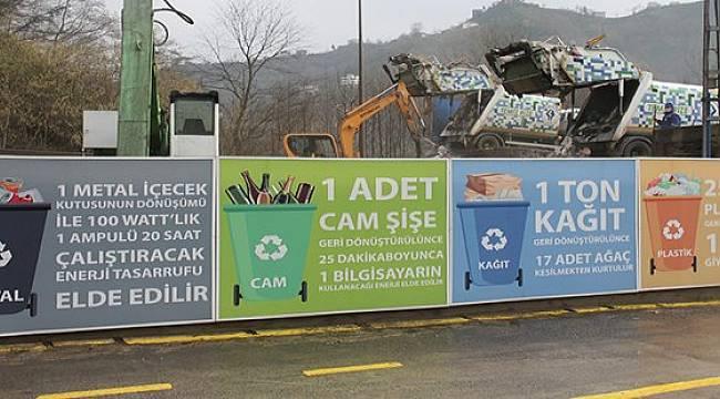 Rize'de Günlük 50 Ton Çöp Ekonomiye Kazandırılıyor