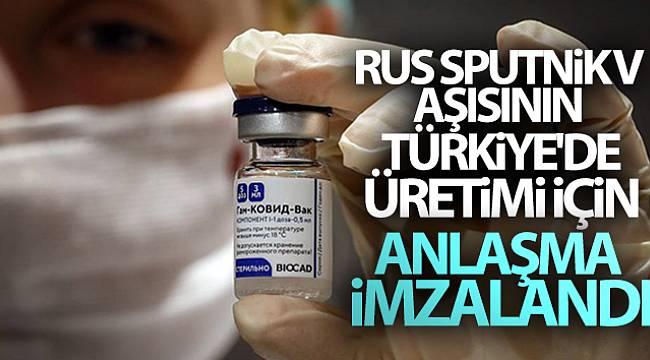 Rus Sputnik V aşısının Türkiye'de üretimi için anlaşma imzalandı