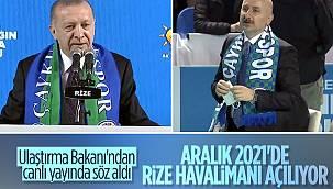 Cumhurbaşkanı Erdoğan: Aralık 2021'de Rize-Artvin Havalimanı tamamlanacak