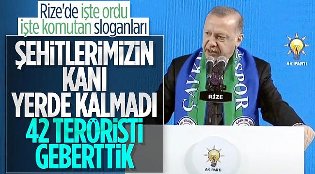 Cumhurbaşkanı Erdoğan: Teröristler alçakça katliam yaptı
